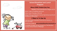 School Breakfast and Lunch Program