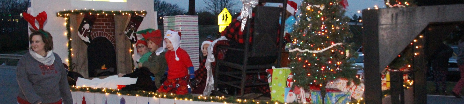 Bourbon Central Elementary Christmas Parade Float