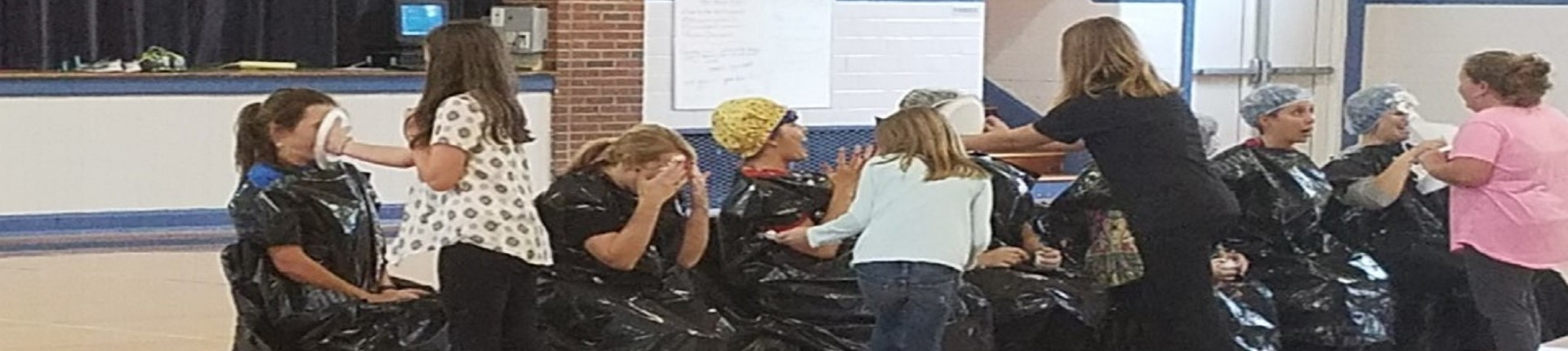 Students with growth on KPREP testing was able to throw a pie in the face of a staff member of their choice!