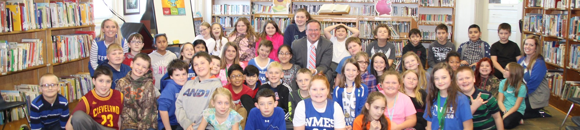 Bill Meck of WLEX at North Middletown Elementary-