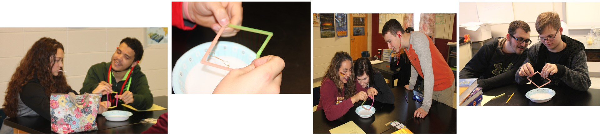 Students in Mr. Lawcock's Class learning about cell membranes.