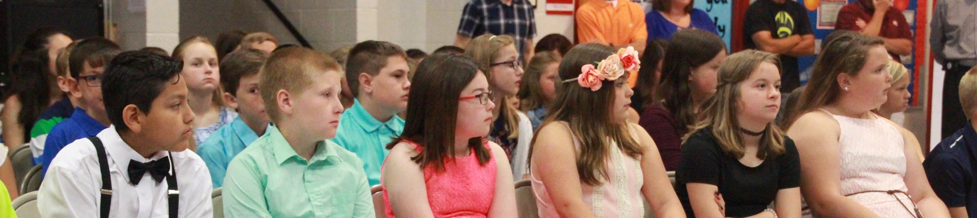 5th Graders Wait for Promotion Certificate at Bourbon Central Elementary