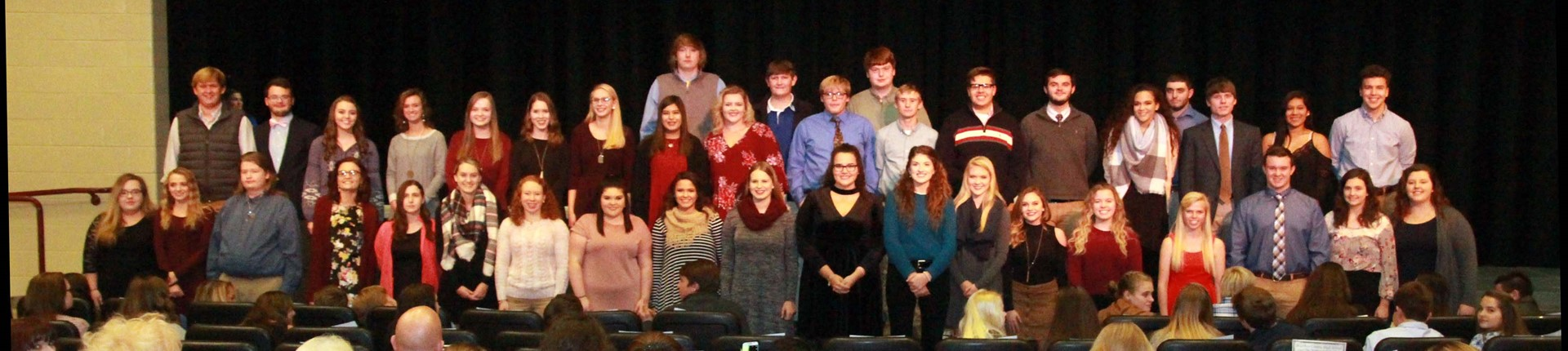 Bourbon County High School students group photo after being inducted to the National Honor Society Initiates