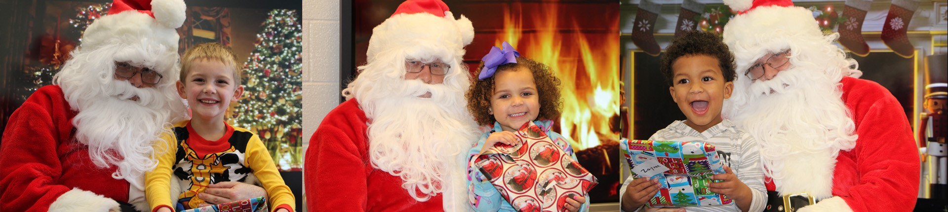 Santa spreads a little Christmas magic during his visit to Preschool Head Start.
